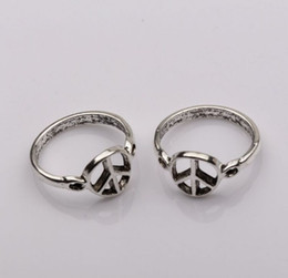 online shopping Ring Antiqued Silver Peace mark Patterns zinc based alloy mm wide Diameter mm Sold per pkg of mm6