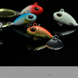 Jigs Lures For Fishing Australia - Lot 4 Pieces Vibration Lure For Day Night Fishing Bass 10g 5cm VIB Lures With White BKK Hook