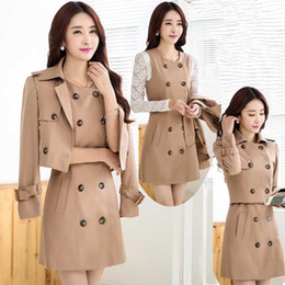 Mujeres Trinchera Al Por Mayor Baratos-Al por mayor-Plus Size S-6XL Trench Coat para mujeres, Casaco Feminino, Maxi abrigos largo Outwear dos piezas Casual Trench Coat y Tops C2264