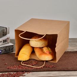 $enCountryForm.capitalKeyWord Australia - 20*27*11cm Eco Friendly Kraft Paper Dessert Bag Disposable Baking Toast Bread Packing Bag Takeaway Food Package 50pcs lot SK736