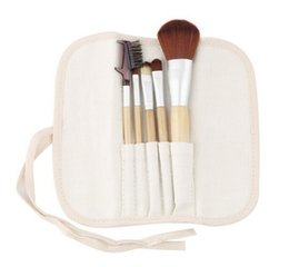 online shopping 5pcs set Natural Makeup Brush Set Cosmetics Eye Shadow Eyeliner Concealer Lash and Brow Groomer Brushes Bamboo Handle