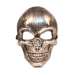 Gold Full Face Mask NZ - Halloween Cool Skull Mask Full Face Masquerade Party Horror Mask Feild Battle CS Cosplay Props SD979