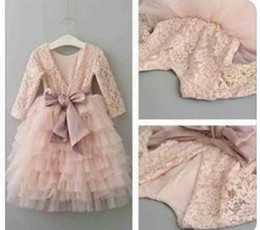$enCountryForm.capitalKeyWord NZ - Party Dress Kids Girl Lace Backless Dresses 1-7Year Princess Baby Girl Full Sleeve Bow Tutu Dress Costume 2018 Spring Children Clothes D231