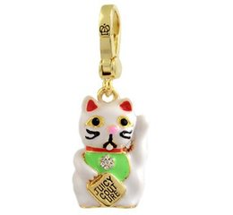 $enCountryForm.capitalKeyWord Canada - Wholesale Free ship Free shipping wholesale price pendant JC Fashion Lucky Cat Charms for women 1758