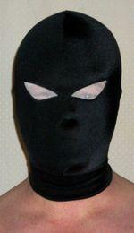 $enCountryForm.capitalKeyWord Canada - Black Lycra Mask   hood eye can see outside of spandex