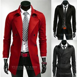 Red Trench Coat Men Online | Long Red Trench Coat Men for Sale