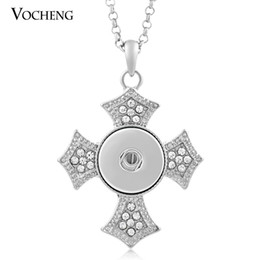 China NOOSA Cross Necklace Ginger Snap Jewelry Button Pendants Interchangeable Jewerly with Stainless Steel Chain NN-037 supplier stainless crosses suppliers