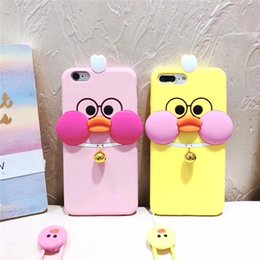 Silicone Duck Iphone Cases Canada - For iPhone 6 6s 7 Plus Silicone Case Cover 3D Duck Soft Silicon Lovely Anti-knock Cellphone Shell Cover for iPhone 5G OPP