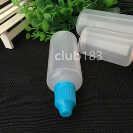 bottles eye drop NZ - Newest PE Child Safety Caps 60ml plastic bottle soft style 60ml Eye Drop Bottle long thin tip e liquid bottles