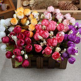 $enCountryForm.capitalKeyWord Australia - Christmas Supply 15 Mini Rose Artificial Flowers 7 Colors Selection Rosebuds Star Party Decoration Wreaths Silk Bud Factory Direct ER01