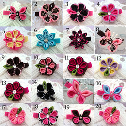 Discount candy girl hair - 36 Color Girl flower bowknot hairpin 2015 new lovely princess girl Candy color hairpin children Hair Accessories B001