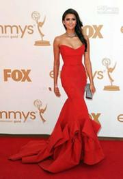 $enCountryForm.capitalKeyWord Canada - Red Dress sweetheart Emmy Awards Formal Evening Dress Celebrity Dresses With Strapless Ruffles Backless Mermaid 2014 Prom Dress