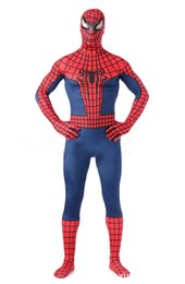 Barato Traje De Filme Adulto-2015 The Amazing Spider-man Costume 3D Original Movie Halloween Cosplay Spandex Spiderman Costume Adulto zentai suit Hot Sale frete grátis