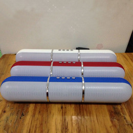 Discount pulse mini speaker - JHW-V318 Bluetooth Speakers Pulse Pills Flash Portable Wireless Hands Free Speakers Support FM Radio TF Card DHL Free MI