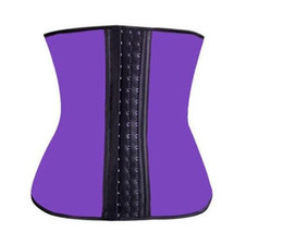 Discount women latex rubber waist training - S-3XL 4 Colors Women Latex Rubber corset Waist Training Cincher Underbust beauty Corset Body Shaper Shapewear