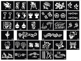 Stencils For Body Painting Canada - Glitter Tattoo stencil design for Body art Painting 100 sheets mixed designs Supply free shipping