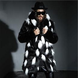 $enCountryForm.capitalKeyWord Canada - Wholesale- New winter fashion men fox fur coat Faux fur slim fit leather jacket,Casual hooded splice long overcoat section Plus size S~4XL
