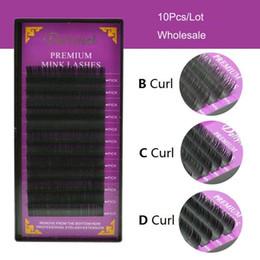 Hair B Canada - Makeup Natural long Individual Eyelash Extension Black False EyeLashes for ladies women 9-14mm B C D Curl 0.07 0.10 0.15 0.20 0.25