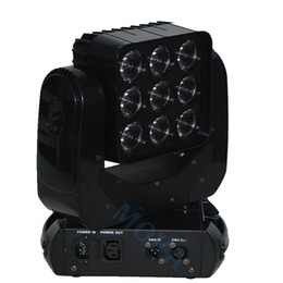Usa Lamps UK - 4pcs lot Moka MK-M25 3*3 RGBW LED Lighting Moving Head Stage Light matrix lamp With Flight Case
