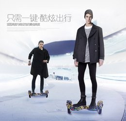 Two wheel self balancing boards online shopping - 10 inches big tire two wheel smart self balance scooter electric drift board skateboard Hip Hop Flame graffiti Scooter
