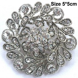 Bling Party Decorations Australia - Bling Bling Clear Austria Crystals Vintage Fashion Round Flower Women Party Jewelry Decoration Brooch Bridal Bouquet Pin