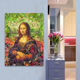 $enCountryForm.capitalKeyWord Australia - 1 Pcs Canvas Art Wall Pictures For Living Room Mona Lisa for Womankind Modern Painting Home Decor Printed No Framed