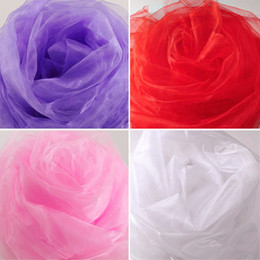wedding chair decorations diy Canada - 10000cm*75cm White Roll Soft Sheer DIY Organza Fabric Wedding Chair Sash Bows Swag Party Decoration free shipping TY892