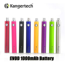 kanger protank atomizers Canada - Authentic Kanger EVOD 1000mAh battery for CE4 CE5 CE6 MT3 Vivi Nova Protank 510 ego thread atomizers