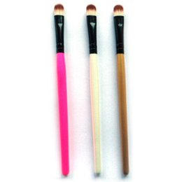 Wholesale Cosmetic Makeup Brushes Canada - 1 Pcs 3 Colors Eye Brushes Eyeshadow Foundation Pencil Brush Cosmetic Brushes Makeup Tools