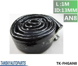 Discount hose tansky - TANSKY-1m 3.3ft Fire Sleeve Braid Flame Heat Shield 1 2 ID:13 MM Fit AN8 Fuel Hose TK-FHGAN8