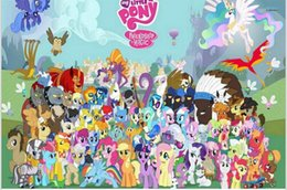My Little Pony Home Decor Movie Poster Custndomized Fashion Classic 50x75cm Wall Sticker Free Shipping