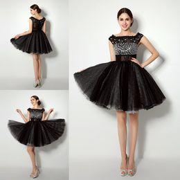 $enCountryForm.capitalKeyWord Canada - Cheap Short Sweet 16 Dresses In Stock Lace Homecoming Dress Rhinestone Beaded Cap Sleeve Juniors Prom Party Gowns 8th Grade Graduation Dress