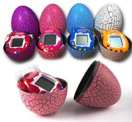 Creative Tamagotchi Electronic Pets Machine Tumbler Game Toys Nostalgic Keychain Cracked Egg Toy Children Birthday Gift