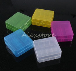 $enCountryForm.capitalKeyWord Canada - 100pcs Portable Plastic Battery Case Box Safety Holder Storage Container 5 colors pack batteries for 2*26650 or 3*18650 lithium battery DHL