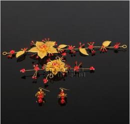 $enCountryForm.capitalKeyWord Canada - Red Chinese bride headdress costume show hair clothing accessories Jewelry Wedding Toast dress Wo flower