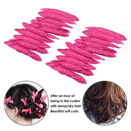Diy Curls Hair Rollers Australia - Flexible Foam Sponge Hair Curlers, No Heat Hair Curlers Magic Pillow Soft Rollers Spiral Curls Set Hair Care DIY Styling Tools Comfy to Slee