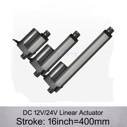 Wholesale Free Shpping DC V V inch mm electric linear actuator N kgs load mm s speed linear actuators without mounting brackets