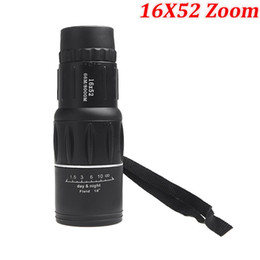 Camping Hiking Telescope Canada - 2015 New Generation 16X52 Zoom Compact Sports Monocular Telescope Mono Spotting Scope for Outdoor Traveling Hiking Camping Black