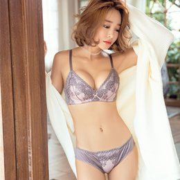 32849b42fe3 retro embroidery lingerie thin cotton cup women bralette seamless bra and  brief sets girls underwear suits push up intimates