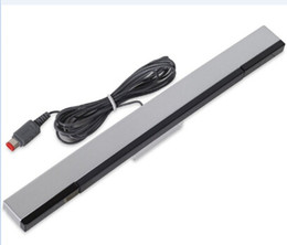 $enCountryForm.capitalKeyWord NZ - Replacement Wired Remote Motion Sensor Bar Infrared Ray Inductor Receiver Stands For Wii U Console Retail Package Box Q1