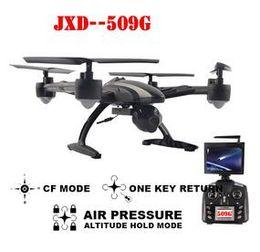 Dhl جديد jxd 509 جرام rc quadcopter الطائرة 5.8 جرام fpv مع كاميرا 2.0mp hd ، ارتفاع ضغط الهواء التلقائي ، وضع مقطوعة الرأس ، مفتاح واحد العودة 1 قطع