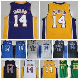 982ffc698 ... StitchedNBAJersey Duke Blue Devils 14 Brandon Ingram College Jerseys  Basketball Kinston High School Brandon Ingram Jersey Men ...