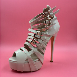 $enCountryForm.capitalKeyWord NZ - 2016 Nude Wedding Shoes For Bridal Buckle Strap Custom Made Fashion Ladies Party Sandals High Heels Covered Back Zipper New Arrive Hot Sale