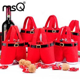 $enCountryForm.capitalKeyWord Australia - 2016 Newest Santa pants style Christmas Decoration Christmas Wedding Candy Bags Lovely Gifts Xmas Bag For Children Free shipping A-0230