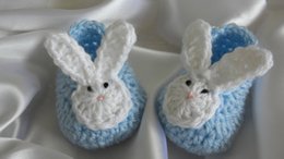 $enCountryForm.capitalKeyWord NZ - 2Crocheted Baby Booties, Crocheted Baby Shoes, Baby Bunny Shoes, Newborn Baby Boy Booties, Baby Boy Bunny Booties, Photo Prop Bunny Booties