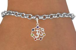 Alloy Sports Canada - New Sale 10pcs A Lot Zinc Alloy Metal Plating Crystal YOGA Reiki Sports Link Chain Charm Bracelets