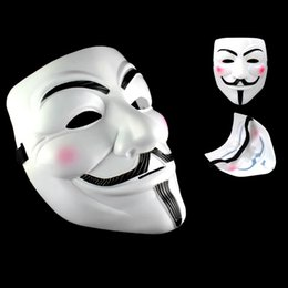 V Vendetta Cosplay Canada - Party Masks V for Vendetta Masks Anonymous Guy Fawkes Fancy Dress Adult Costume Accessory Party Cosplay Masks