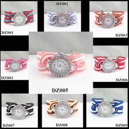 $enCountryForm.capitalKeyWord NZ - 2015 New Hot Sales Ladies Wrap Wristwatch Bracelets with Rhinestones Crystals by Hand Made Colors can choose by yourself