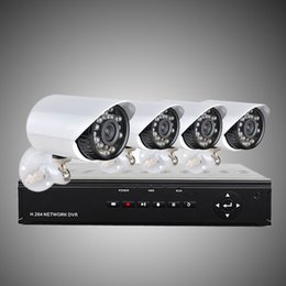 Yükseltme Ev Güvenlik Sistemi ile H.264 4CH 960 H Ağ DVR 4 adet 700TVL renk su geçirmez kameralar, 500G HDD CCTV Sistemi H203