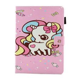 China Beautiful Flower Cute Unicorn Print Kid PU Leather for ipad Mini 123 Mini 4 New ipad 2017 2 3 4 Air 2 Samsung Tablet T280 T380 T585 suppliers